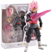 Load image into Gallery viewer, SHF Dragon Ball SUPER Super Saiyan Rose Goku Black Zamasu PVC Gokou Black Figure Collectible Model Toy 15cm - Veve Geek