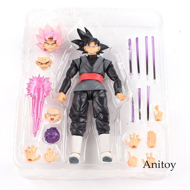 SHF Dragon Ball SUPER Super Saiyan Rose Goku Black Zamasu PVC Gokou Black Figure Collectible Model Toy 15cm - Veve Geek
