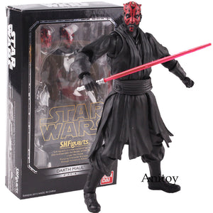 SHF Star Wars Toys darth maul star wars action Figure PVC Figures Collectible Toys Doll black series - Veve Geek