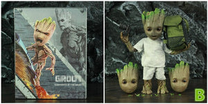Life Size 1:1 Marvel Tree Man 25CM Action Figure Guardians of The Galaxy Avengers Cute Baby Young BJD KO's HT Hot Toys Legends - Veve Geek