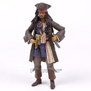 Pirates of the Caribbean Captain Jack Sparrow PVC Action Figure Collectible Model Toy with Retail Box - Veve Geek
