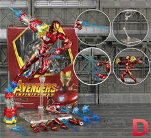 "Load image into Gallery viewer, Marvel Endgame Thanos Iron Man MK50 MK85 Mark 85 6"" Action Figure Tesseract MCU Stones Avengers Infinity War KO's SHF Toys Doll - Veve Geek"