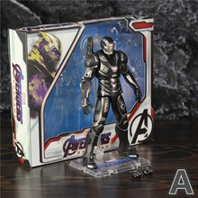 "Load image into Gallery viewer, Marvel Avengers 4 Endgame War Machine 2019 Movie 7"" 17cm Action Figure James Rhodes Legends Original ZD Toys Doll Collectable - Veve Geek"
