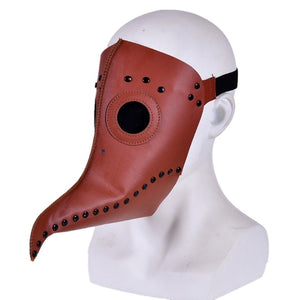 plague doctor mask Beak Doctor Mask Long Nose Cosplay Fancy Mask plague doctor Gothic Retro Rock Leather Halloween beak Mask PY - Veve Geek