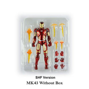New Hot TheAvengers IronMan Action Figure Model 18-20cm MK42 MK43 Iron Man Doll PVC ACGN figure Toy Brinquedos Anime kids Toys - Veve Geek