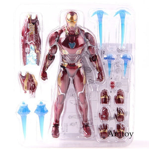 SHF Figure Iron Man MK50 & Tamashi Stage PVC Marvel Avengers Infinity War Action Figure Iron Man Mark 50 Collectible Model Toy - Veve Geek