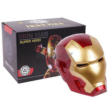 Load image into Gallery viewer, Iron Man Adult Motorcycle Helmet Cosplay Mask Touch Sensing Mask with LED Light Collectible Model Toy 1:1 High Quality - Veve Geek