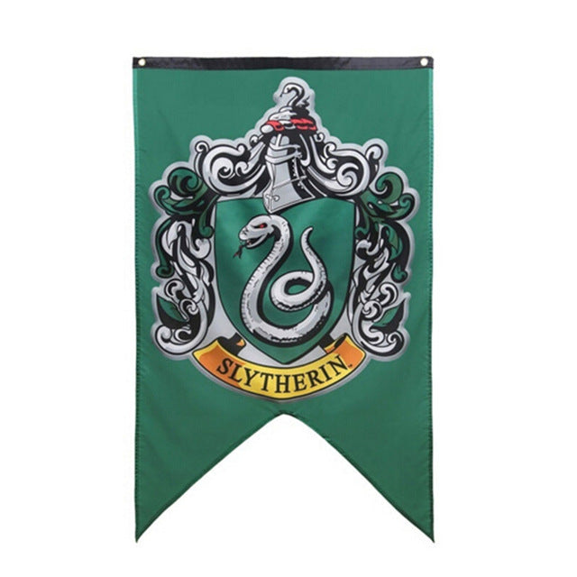 New College Potter Flag Banners Harri Gryffindor Slytherin Hufflerpuff Ravenclaw Boys Kids Decor Christmas Party Supplies - Veve Geek