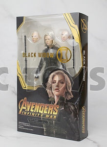 Movie Avengers Infinity War Black Widow Natasha Romanoff Cartoon Toy Action Figure Model Doll Gift - Veve Geek