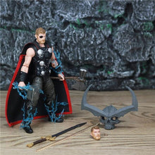 "Load image into Gallery viewer, Marvel Legends 6"" Thor Action Figure Avengers Infinity War From TRU 3P One Eyed Crown of Surtur Storm Breake Sword Collectible - Veve Geek"
