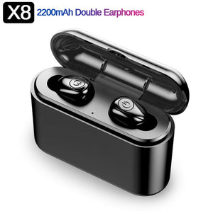 XG12 TWS Bluetooth 5.0 Earphone Stereo Wireless Earbus HIFI Sound Sport Earphones Handsfree Gaming Headset with Mic for Phone - Veve Geek