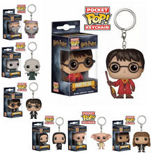 Load image into Gallery viewer, FUNKO POP New Arrival DOBBY HERMIONE DUMBLEDORE HARRI POTTER VOLDEMORT Keychain Action Figure Collection Toys for Children Gift - Veve Geek