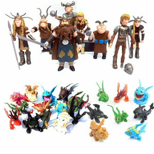 IN Stock 8-13Pcs How To Train Your Dragon 2 Night Fury Toothless PVC Action Toys Toothless Action Figure Light Fury Toothless - Veve Geek