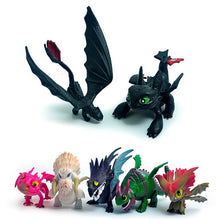 Load image into Gallery viewer, IN Stock 8-13Pcs How To Train Your Dragon 2 Night Fury Toothless PVC Action Toys Toothless Action Figure Light Fury Toothless - Veve Geek