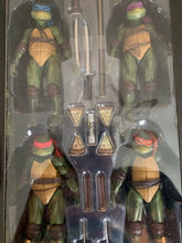 Load image into Gallery viewer, 7inch 18cm 4pcs/set Original NECA 1990's Turtles 18cm Raphael Leonardo Michelangelo Donatello Action Figure Toys Doll For Kid - Veve Geek