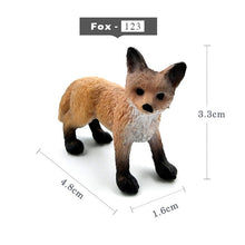 Load image into Gallery viewer, Mini Simulation Red Fox Porket Pig animal models figurine forest wild animals plastic Decoration educational toys Gift For Kids - Veve Geek