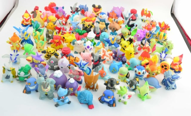 24pcs/set 2-3cm Pokeball Figures Cute Mini Pikachu Figures Monster Model Toys Random Brinquedos Collection Anime Kids Toys #B - Veve Geek