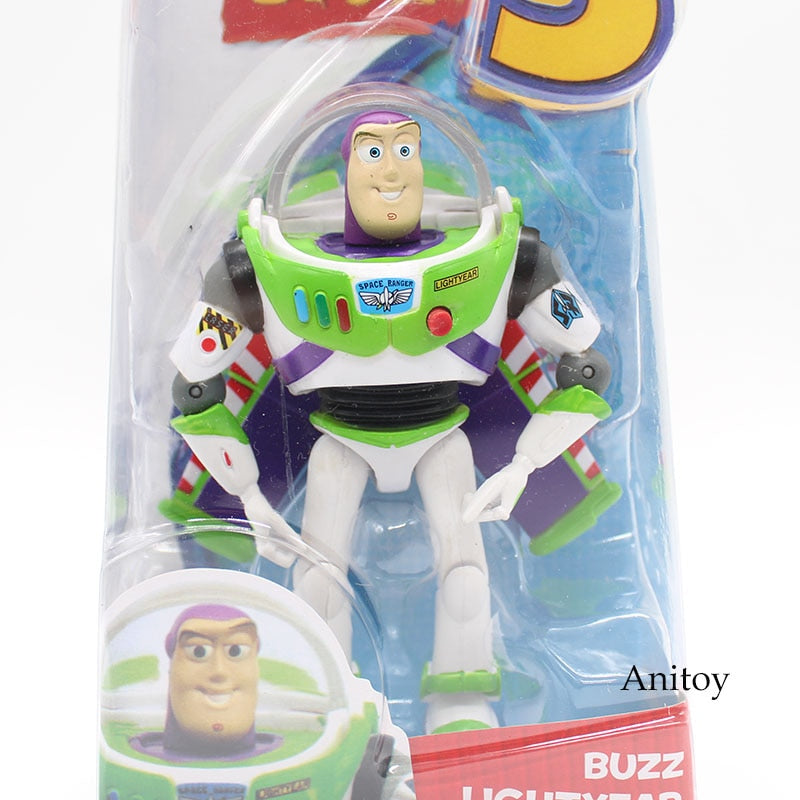 Anime Toy Story 3 Buzz Lightyear PVC Action Figure Collectible Model Toy Kids Gifts 14cm KT446 - Veve Geek