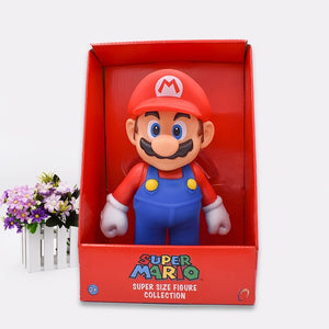 "Free Shipping Super Mario Bros Mario PVC Action Figure Collection Toy Doll 9"" 23cm New in Box Enime - Veve Geek"