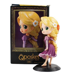 13.5cm  Q Posket Tangled Rapunzel PVC Figure Model Toy Princess Doll Gift for Girls - Veve Geek