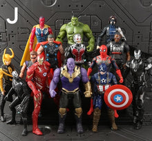Load image into Gallery viewer, NEW Hot SaleMarvel 21Pcs/Set Avengers Figure Super Heroes Superman Batman Hulk Captain America Thor Iron Man PVC Action Figure - Veve Geek