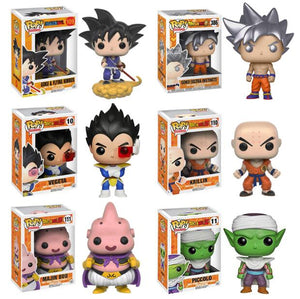 Funko Pop Amine Dragon Ball Son Goku Frieza Action Figure Super Saiyan Collectible Model Kids Toys - Veve Geek