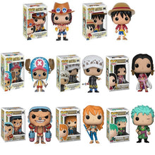 Load image into Gallery viewer, Funko Pop One Piece ZORO Monkey D. Luffy NAMI FRANKY Action Figure PVC Model Toys Birthday Gift - Veve Geek