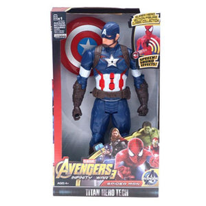 "Marvel Super Heroes Avengers Thanos Black Panther Captain America Thor Iron Man Spiderman Hulkbuster Hulk Action Figure 12"" 30cm - Veve Geek"