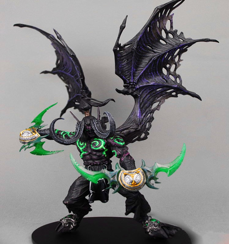 Wow Demon Hunter Action Figure DC Unlimited Series 5 13 inch Deluxe Boxed Demon illidan Stormrage WOW PVC Figure Toy - Veve Geek