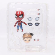 Load image into Gallery viewer, 10cm Marvel Toys Nendoroid 1037 the Avengers Endgame Iron Spiderman PVC Action Figure Iron Spider Super Hero Collectible Model - Veve Geek