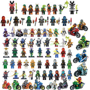 2019 Compatible LegoINGlys NinjagoINGlys Sets NINJA Heroes Kai Jay Cole Zane Nya Lloyd With Weapons Action Toys for children - Veve Geek