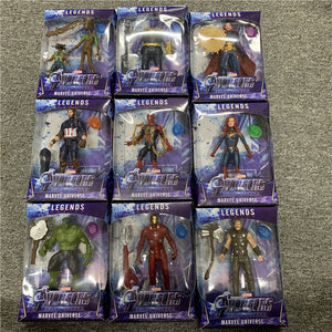 LED Thanos Black Panther kids marvel Captain America Thor Iron Man Spiderman Hulk Avengers action Figure toys Model Doll - Veve Geek