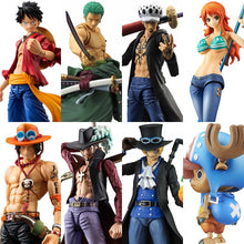 Load image into Gallery viewer, MegaHouse Variable Action Heroes One Piece Luffy Ace Zoro Sabo Law Nami Dracule Mihawk PVC Action Figure Collectible Model Toy - Veve Geek
