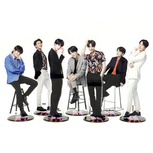 Bangtan Boys groups KPOP stars group acrylic stand figure model double-side plate holder cake topper idol - Veve Geek