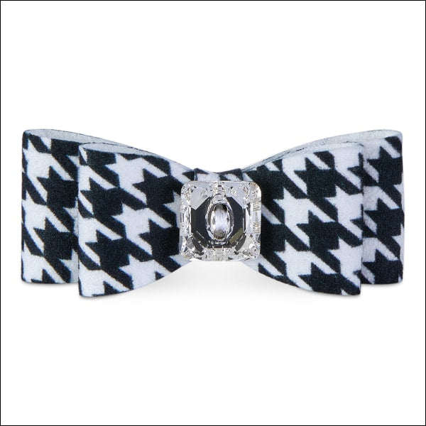 Black & White Houndstooth Big Bow Hair