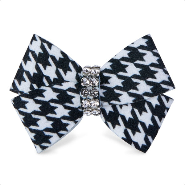 Black & White Houndstooth Nouveau Bow Hair