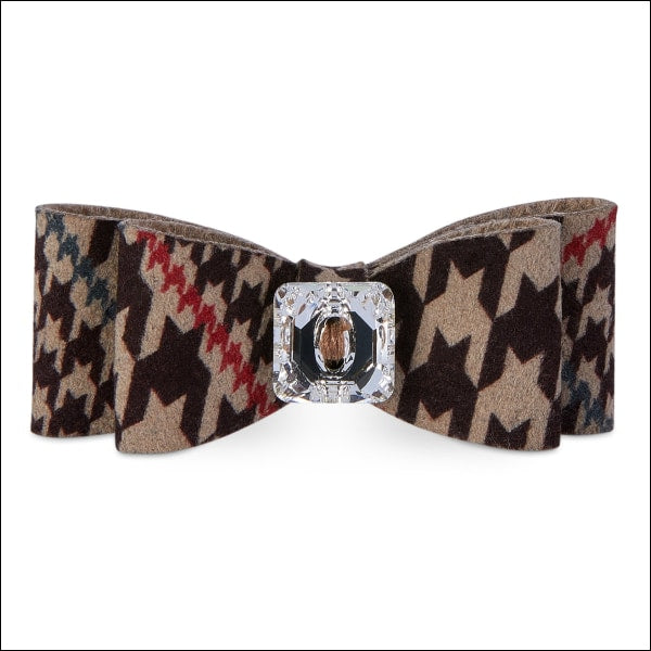 Chocolate Glen Houndstooth Big Bow Hair