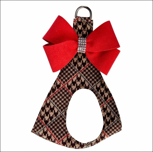 Chocolate Glen Houndstooth Red Pepper Nouveau Bow Step In