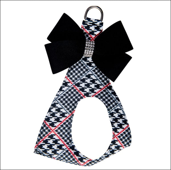 Classic Glen Houndstooth Black Nouveau Bow Step In
