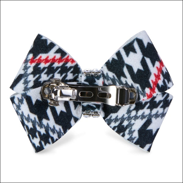 Classic Glen Houndstooth Nouveau Bow Hair