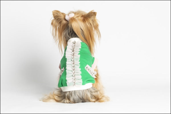 Coco Dog Cardigan Green