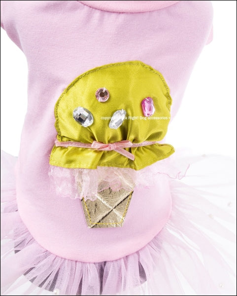 Ice Cream Ballerina Dog Dress