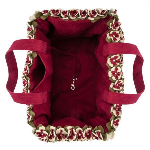 Luxury Purse Falling Leaves Pet Carrier