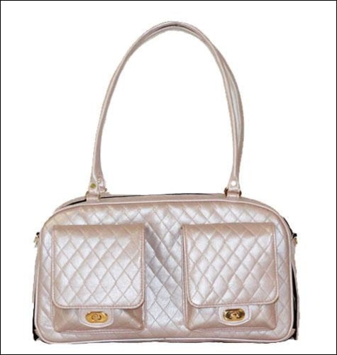 Marlee Petal Pink Quilted Pet Carrier