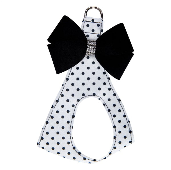 Polka Dot Black Nouveau Bow Step In Harness