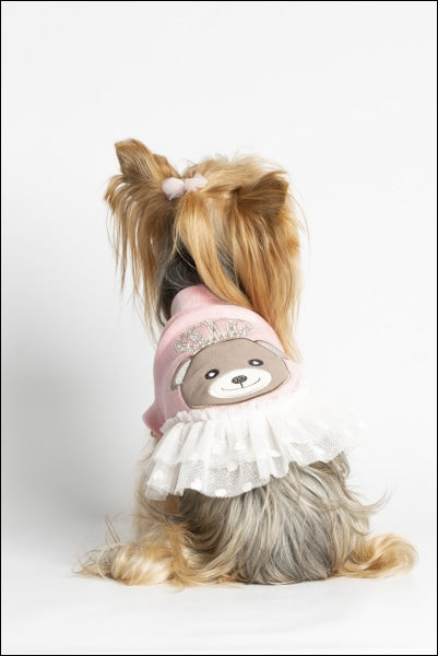 Queen Bear Dog Dress Baby Pink
