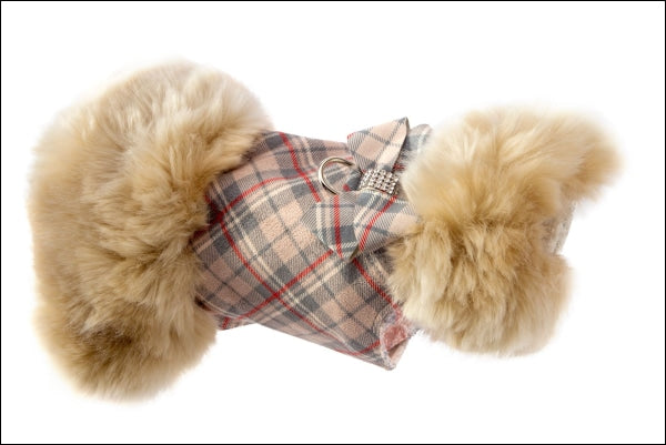 Scotty Doe Plaid Fur Coat