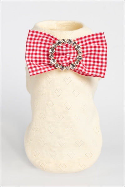 Sparkling Organic Cotton W/ Precious Bow Pin Cream