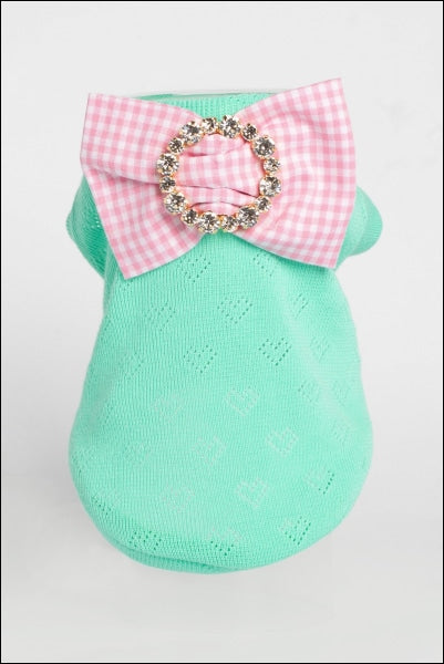 Sparkling Organic Cotton W/ Precious Bow Pin Mint