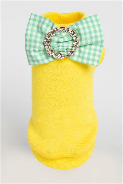 Sparkling Organic Cotton W/ Precious Bow Pin Yellow
